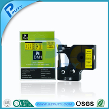 High quality DYMO 40918 label tape 9mm black on yellow D1 labels compatible dymo machine