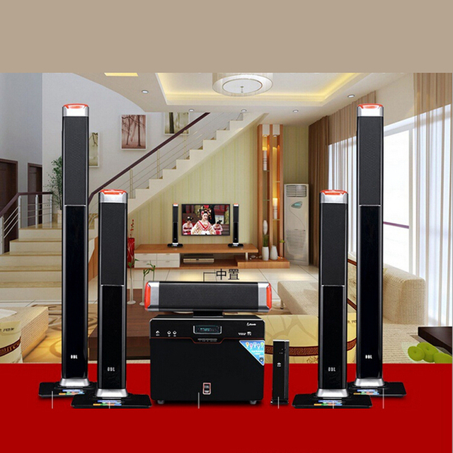 New Wireless 5 1 Surround Home Theater Speakers Sound Card