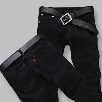 Hot Sale 2016 New Arrival Four Season Men Jeans,Retail & Wholesale Slim Straight Pants Black Color Brand Cotton Jeans Men,A33055