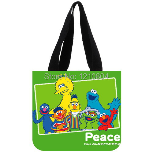 Cute Sesame Street Background Tote Bag for Kids Use(China (Mainland))