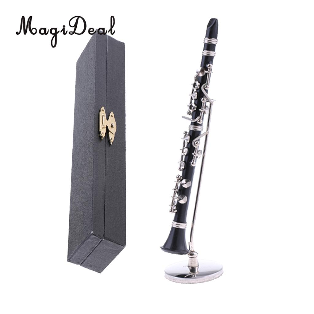 ABS Clarinet Instrument W//Box for Dollhouse Music Room Decor ACCS