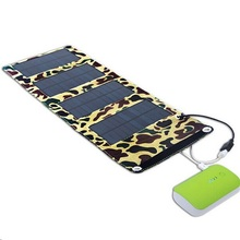 Hot! 7W Portable Solar Charger+Foldable Solar Panel Bag+Traveling Solar Power Supply+USB Charger For Cell Phones Free Shipping