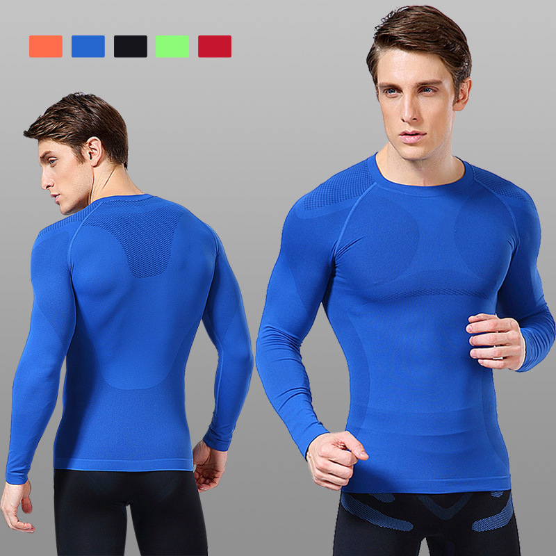 compression shirt fitness men long sleeve tee homme sports t bodybuilding gym tights camisetas - Sports,No Limits! store
