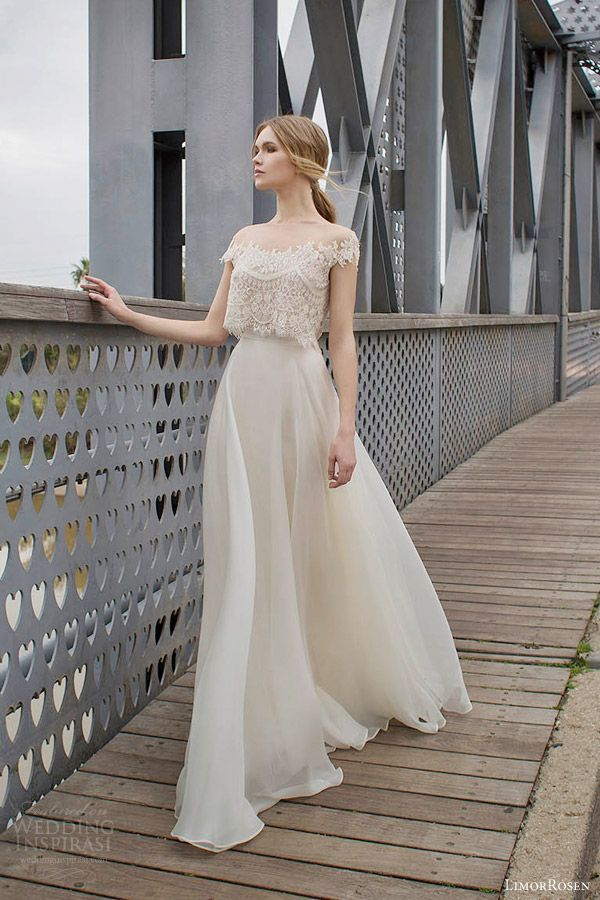 Aramex off shoulder lace two piece wedding dress 2015 for Wedding dresses 2 piece