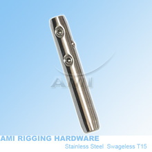 M6 RIGHT, 4mm wire, Swageless Metric thread terminal stainless steel 316 cable railing wire rope terminal rigging hardware,(China (Mainland))