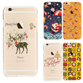 Lovely Butterfly Capa For Apple iPhone 6 6S 6 Plus Phone Case Transparent Soft TPU Heart-shaped coque Dandelion Back Cover