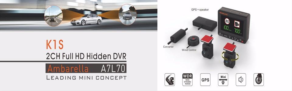 Koonlung Car DVR Model K1S Front Cameras 1080P Super Car Camera Dedicated Camera for K1S Replacement