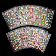 24 Designs Lot Beauty Christmas Style Nail Stickers 3D Nail Art Decorations Glitter Manicure DIY Tools