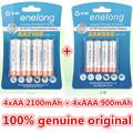 enelong 4Pc 1card 1 2V 2100mAh AA Batteries 4Pcs 1card 900mAh AAA Batteries NI MH AA