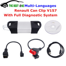 2016 Newest V157 Renault Can Clip Diagnostic Interface Multi-Languages Can Clip Renault Car Best Auto Scanner Full Functions(China (Mainland))