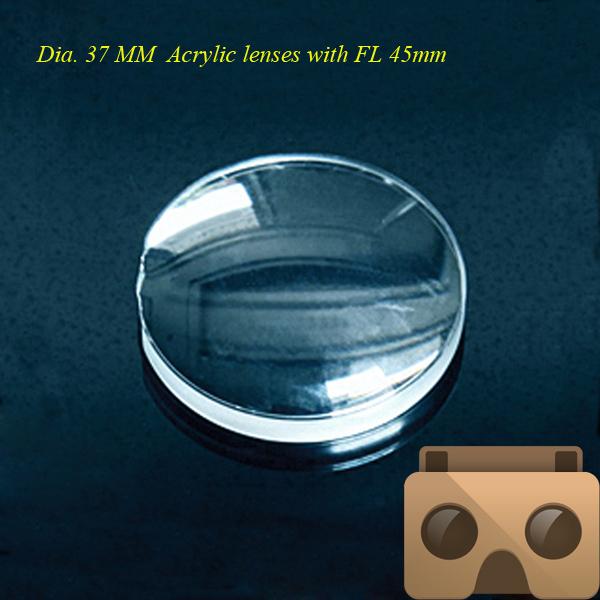 Гаджет  google cardboard lens VR glasses,37mm 3D biconvex lens 45mm FL lens wholesale factory None Инструменты
