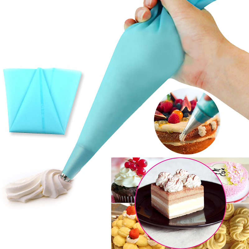 1pcs 30cm cake tools Reusable Silicone Icing Piping Cream Pastry Bag DIY Cake Decorating Tools(China (Mainland))