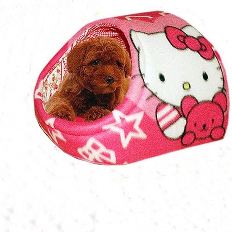 Promotions Teddy Pets Dog Bed Kawaii KT Cat Cat Bed Flip Flop Dog/Cat House Pet Shop New Products S M L 1pcs/Lot(China (Mainland))
