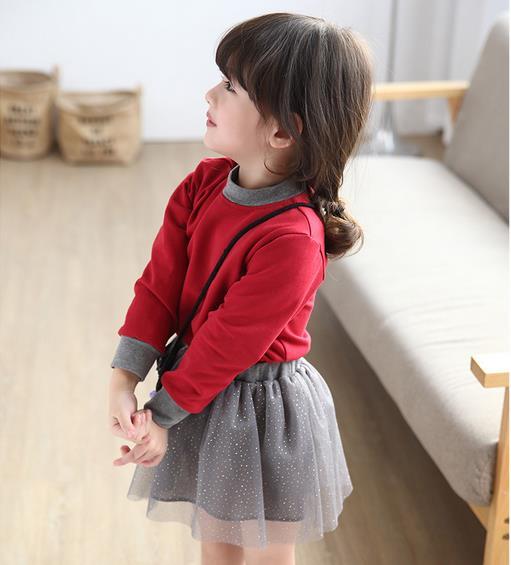 2016 Girls spring cotton long sleeve T-shirt whth tutu skirts sets , girl clothing set WHN02 - Baby wardrobe store