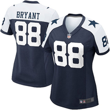Women's Dez Bryant Dallas Jerseys NFL Game Football Jersey - Navy Blue White(China (Mainland))