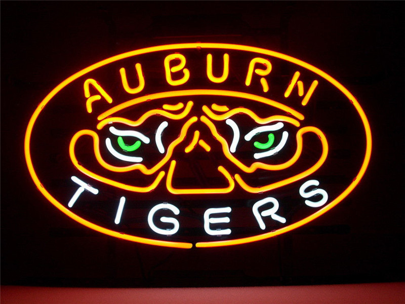 """NEON SIGN For NEW AUBURN TIGERS REAL Signboard REAL GLASS BEER BAR PUB display Light Signs 17*14""""(China (Mainland))"""