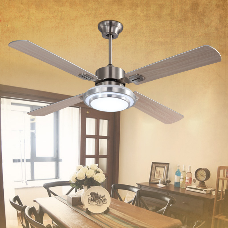 Frequency 52 inch ceiling fan light with 18w ceiling lamp for Living room ceiling light fan