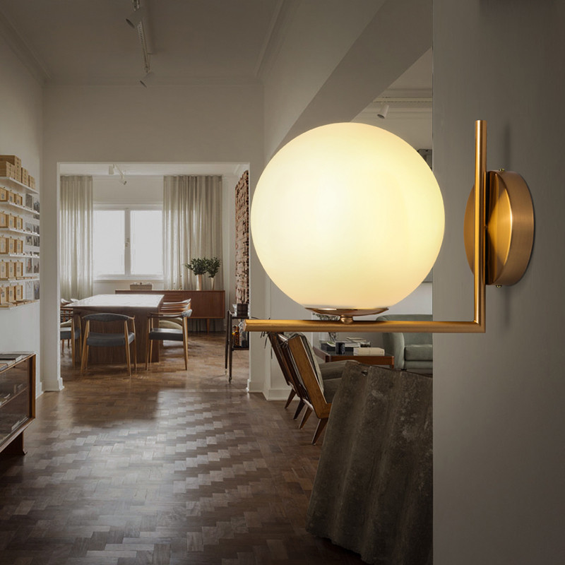 Brief Modern Decoration Wall Lamp Art Glass Sconce Lamp Living Room Bar Offic