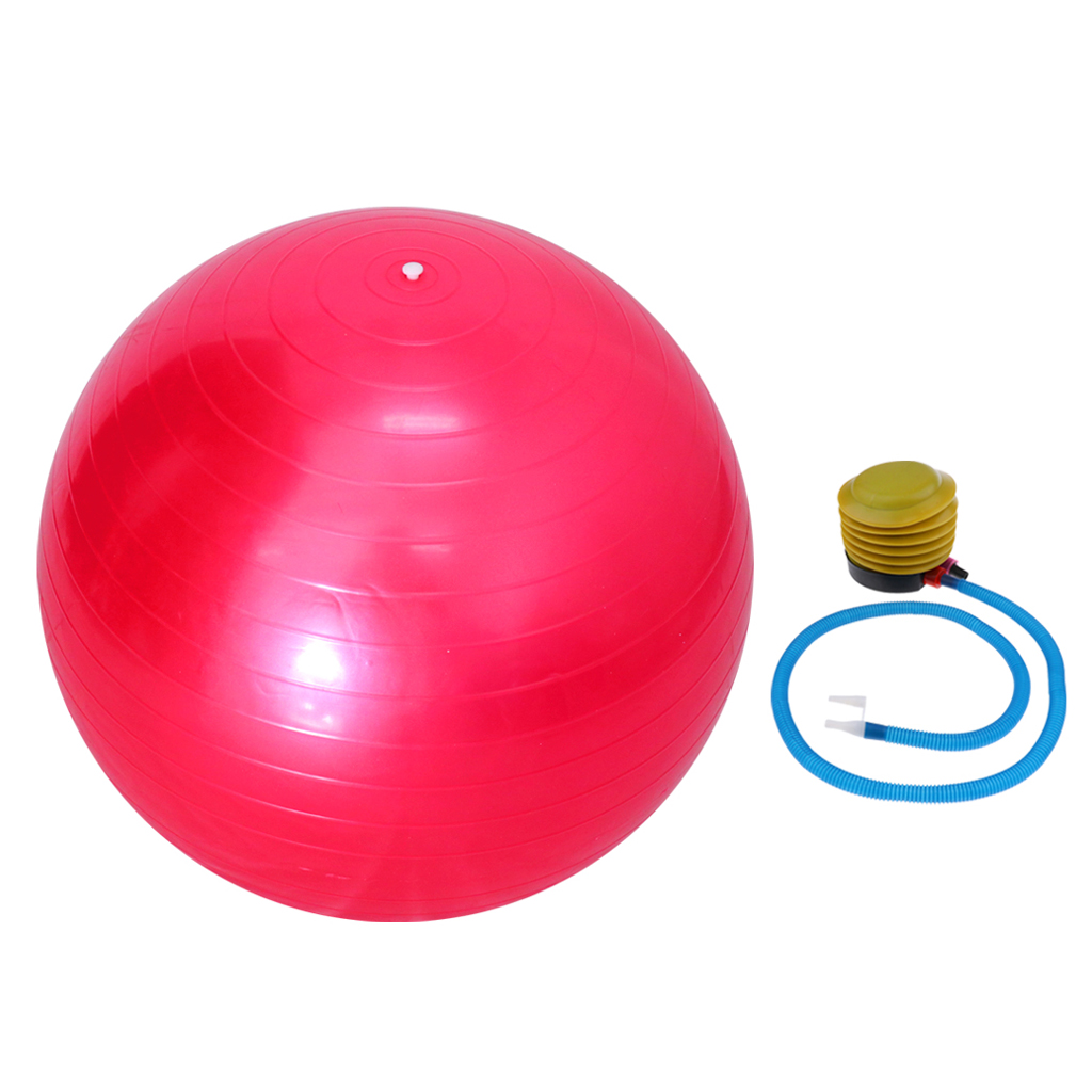 Yoga Exercise Ball with Pump Anti-burst 55cm Fitness Exercise Fitball for Yoga Pilaties Core Workouts Pregnancy Birthing