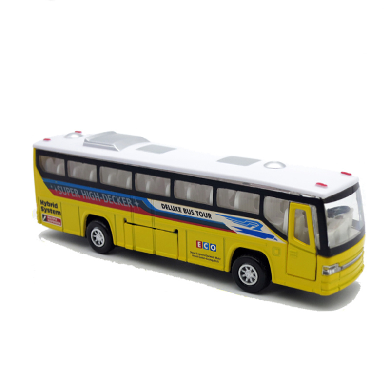 New 19CM diecast metal toy bus collection model, car with pull back function/music/light/openable doors as kids/children gift(China (Mainland))