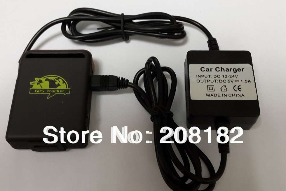 Guaranteed 100% QUAD band gps tracker+hard wired charger+battery for car google link real position o