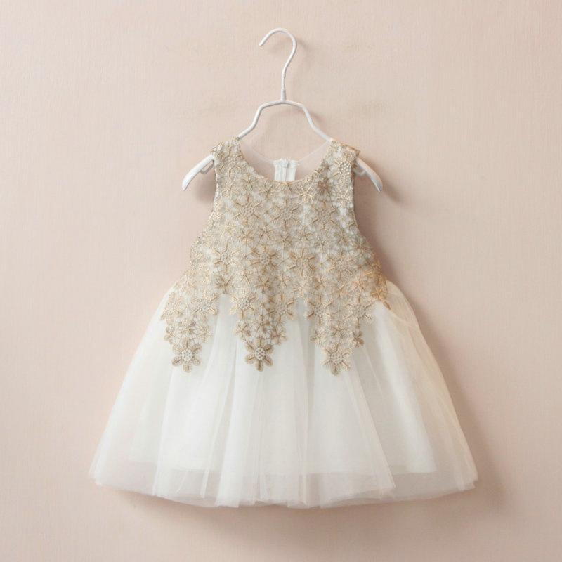 2016 new girlds dress princess dresses sleeveless