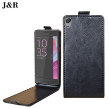 Luxury leather case Sony Xperia E5 F3311 flip cover housing E 5 / F 3311 mobile phone covers cases - Kyoka Suigetsu firm Store store