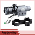 Shockproof Laser Scope Tactical Red Green Dot Laser Sight Rifle Gun Scope 5mW Laser Emitter Airsoft