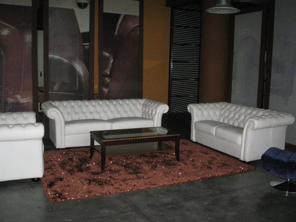 Designer white top graded real leather sofa suite for Leather living room suit