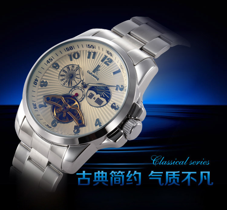 2014 Luxury Brand New Design Ik Colouring Men's Self-wind Watches Automatic Mechanical Watch Casual Mens Business Wristwatches - Wangju store