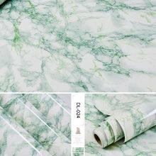 Самоклеющиеся мраморные виниловые обои в рулоне для мебели, декоративная пленка, водонепроницаемые наклейки на стену для кухни, для домашн...(China)