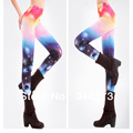 T01 New 2014 Spring Womens Fashion Galaxy 3D Printing Tight Pants Thin Good elasticity