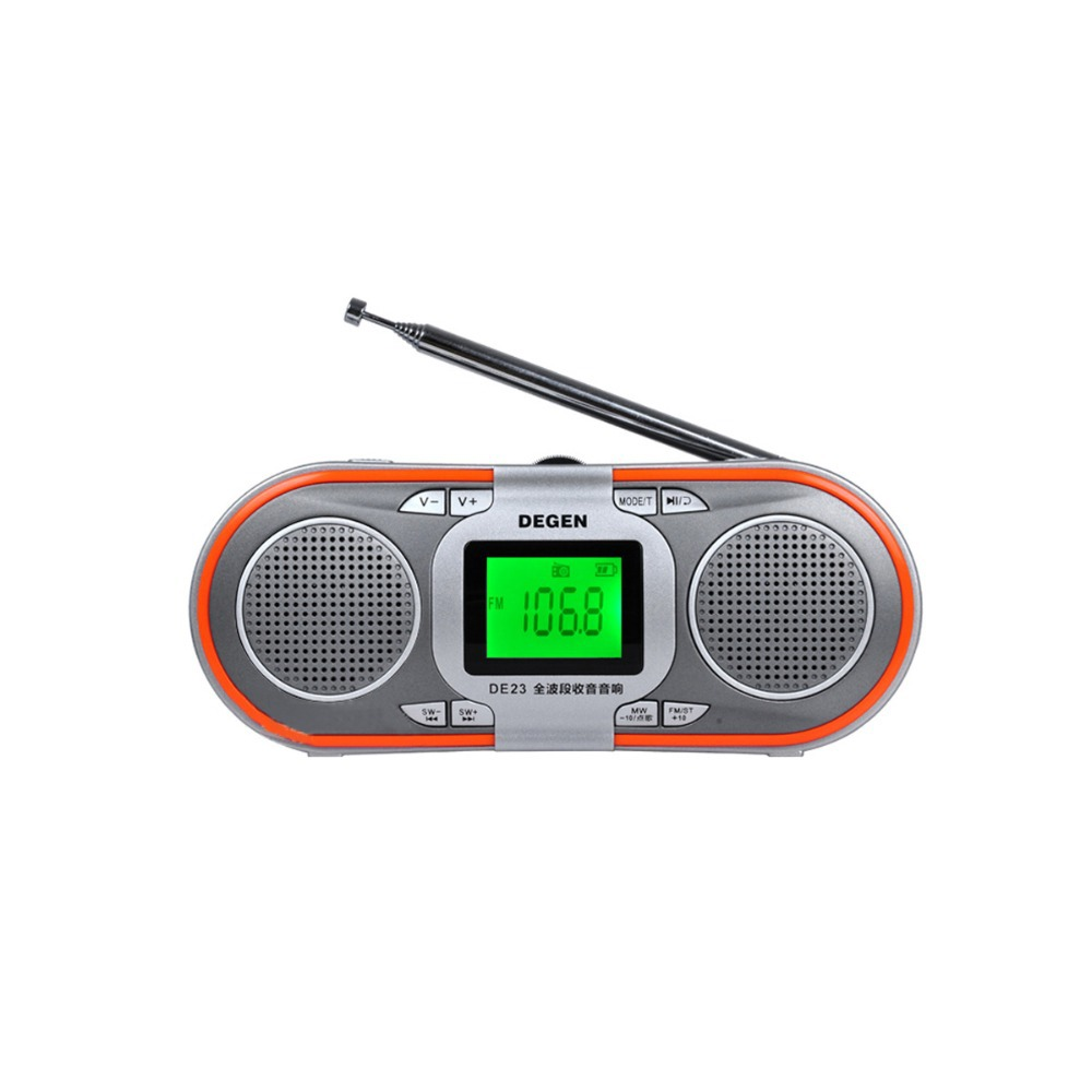 best price degen de23 am fm radio portable fm stereo mw sw dsp mp3 player world band receiver. Black Bedroom Furniture Sets. Home Design Ideas