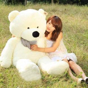 "72"" Giant Huge milky plush teddy bears Holiday Gifts Christmas Stuffed Plush Toys"