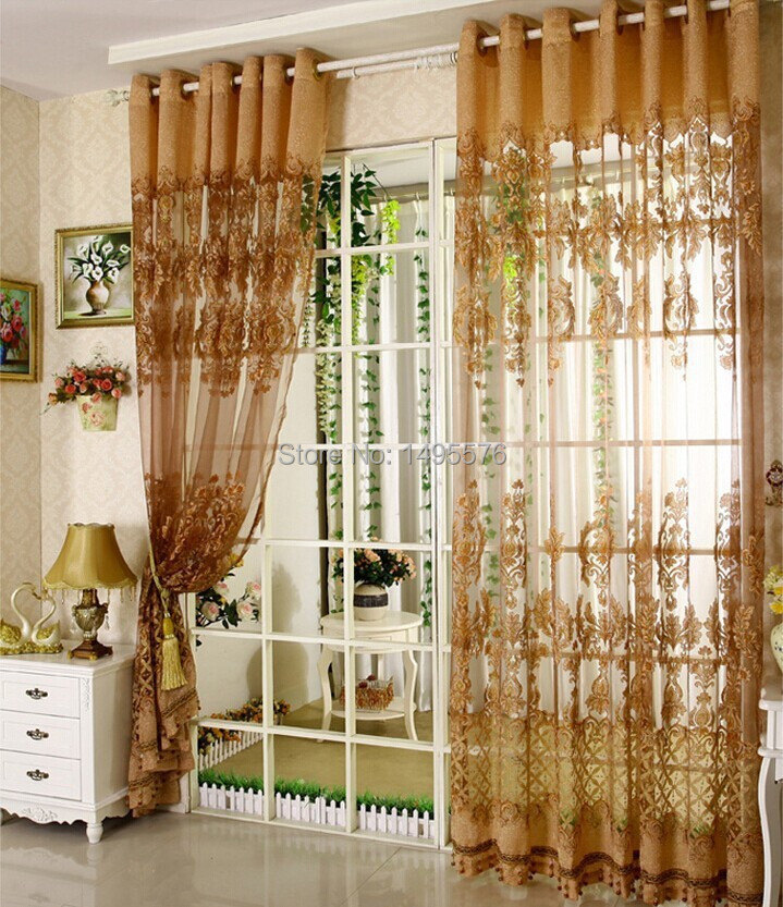 2015 European Style Fancy Design Tulle Curtain With