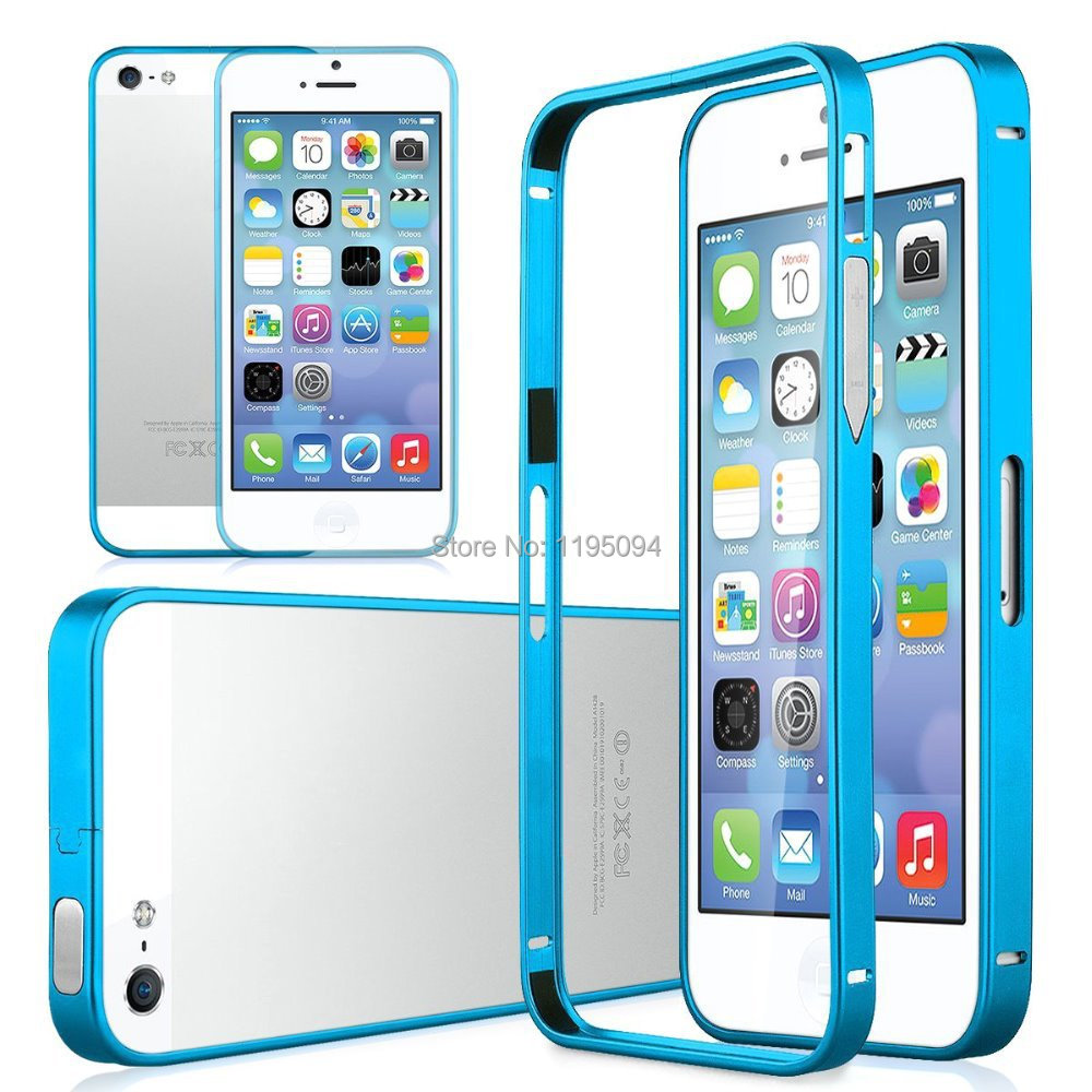 2016 New 0.7mm Luxury Ultra Thin Slim Aluminium Metal Shockproof Bumper Frame Cover Case iPhone 5 5S Send Gift - Shenzhen RongBin Trading Co., Ltd store