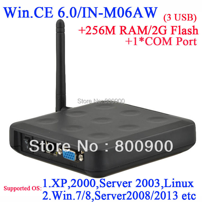 N380W thin client with linux customized 1 COM port 256M Ram 2G Flash embeded WIN.CE 6.0 windows and linux server connect via RDP(China (Mainland))