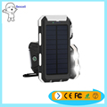 Waterproof double lights double USB output solar type an external battery for mobile phone