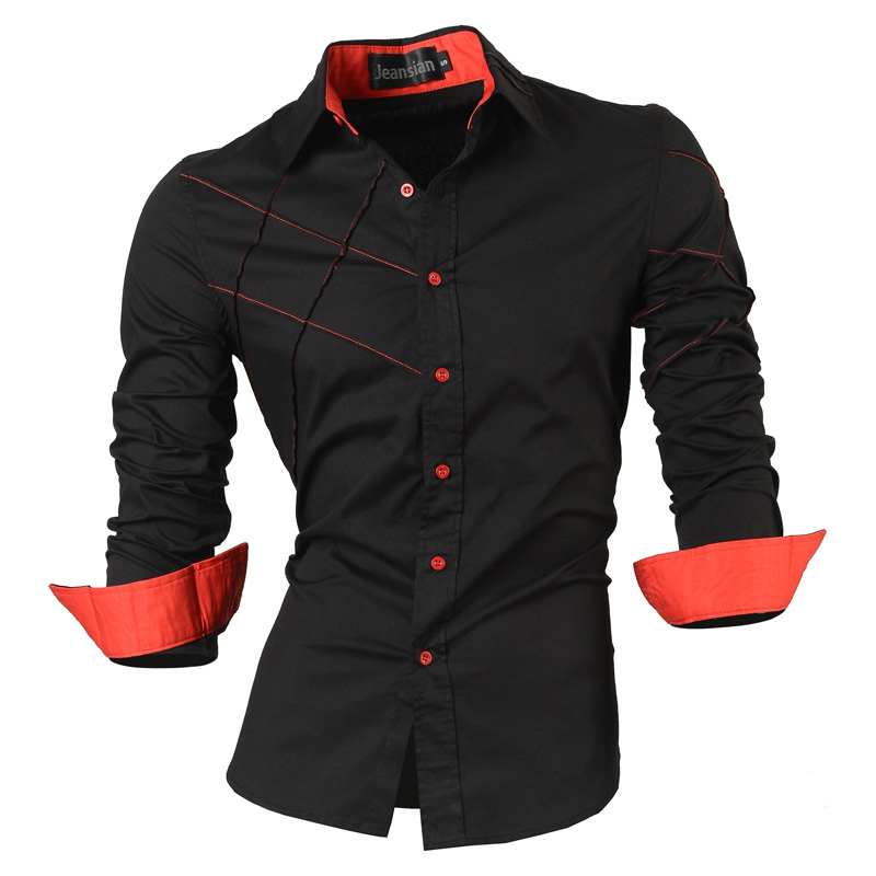 2016 casual shirts dress male mens clothing long sleeve social slim fit brand boutique cotton wester