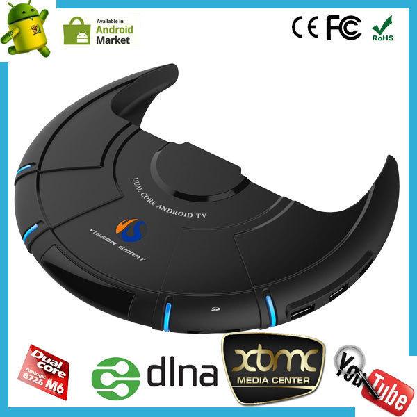 Dual Core Android Smart TV Box XBMC Media Player Center Smartphone Remote Control AMLogic 8726 M6