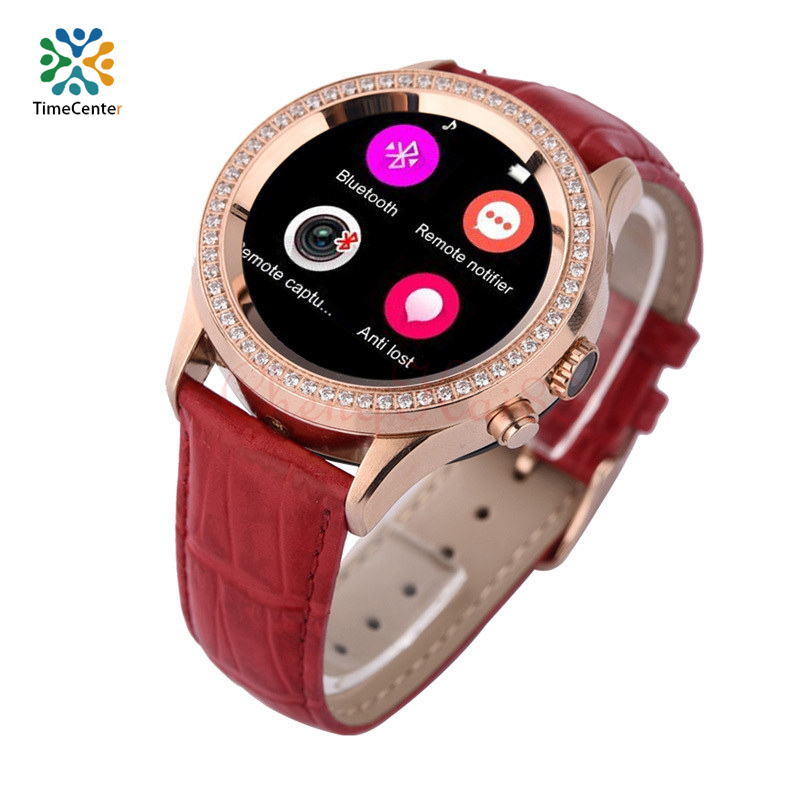 HOTTD2Bluetooth female diamond phone watch ForIOS and Android smart watch camera recording step waterproof heart rate monitoring(China (Mainland))