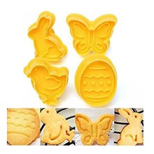 4 pcs 3D butterfly,chicken,rabbit and egg Cake/cookie cutter Plunger Fondant Mould cookies cutter MK1673(China (Mainland))