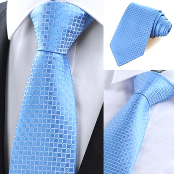 New Casual Slim Mens Ties Small Plaid Skinny Neck Party Wedding Tie Silk Necktie(China (Mainland))