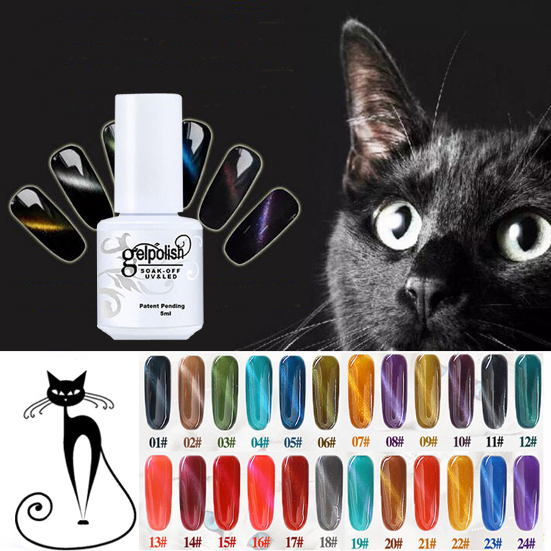 Cute UV LED Gel Lacquer Varnish 3D Cat Eyes Gel Nail Polish Need Magnet Gel UV Gel Cat Eye Nail Art Polish(China (Mainland))