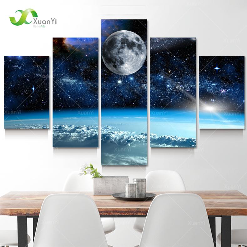 Aliexpress Com Buy 4 Panels Modern Printed Coffee Canvas: Aliexpress.com : Buy 5 Panel Modern Printed Space Universe