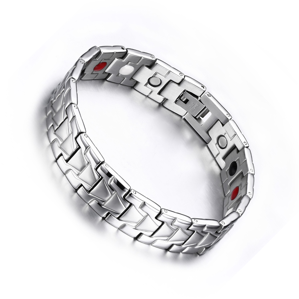 3 colors silver plated bracelet bangles stainless
