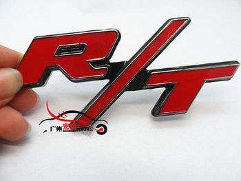 1Pc 3D Red R/T Emblem Badge Logo Sticker Decal for Dodge Charger Challenger