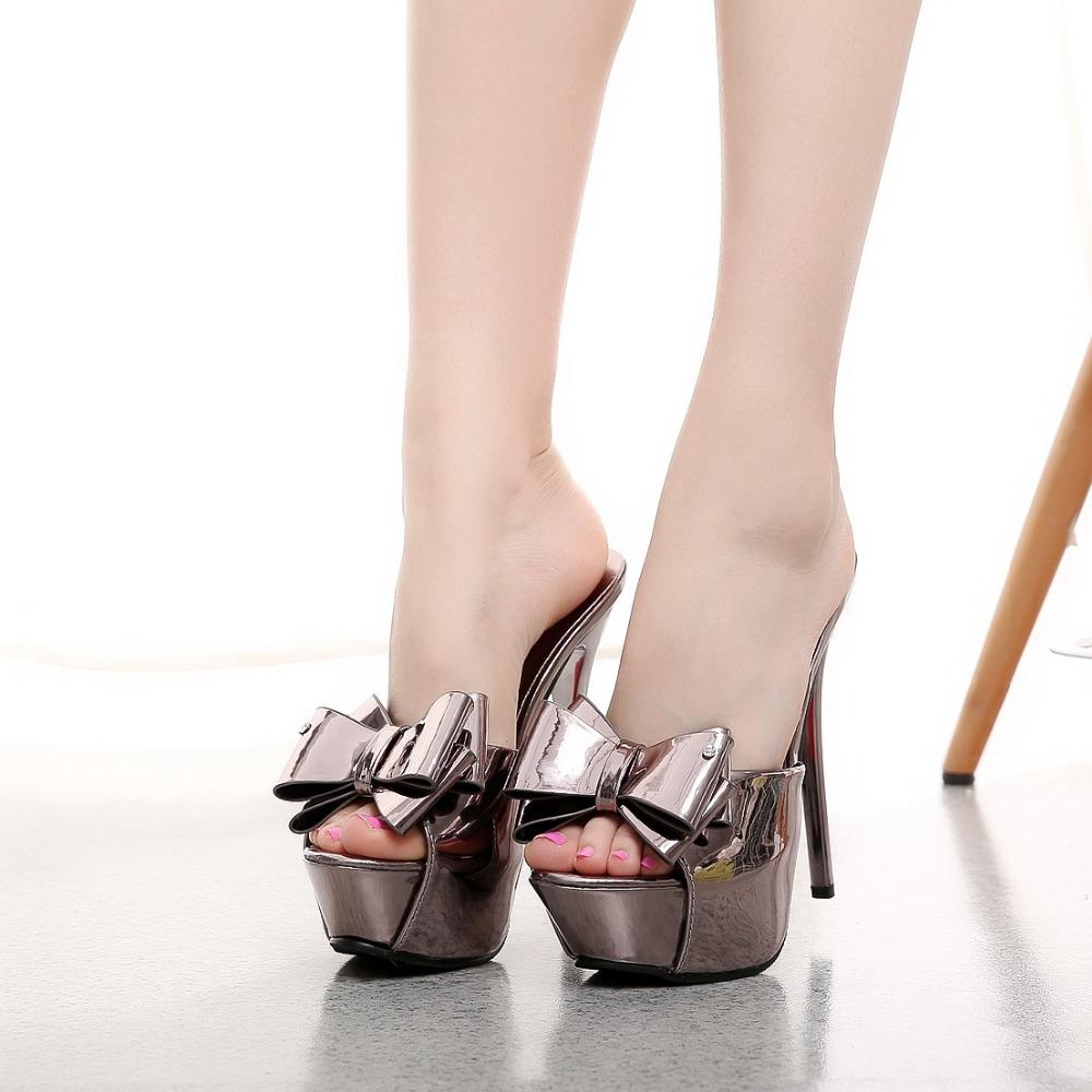 Platform Heel Slippers