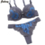 Julexy Embroidery 3/4 Cup ABC Cup Push Up Women Bra Sets New Brand 2016 Lace Sexy Bra Brief Sets Womens Bras And Underwear Sets