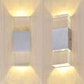 1pcs 2leds Creative Crystal LED Wall Lamp 5 Colors Transparent Used for Bedroom Bedside Living Room